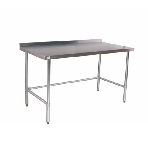 back splash stainless table no undershelf 30x60