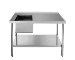 """24"""" Wide Stainless Table with Sink"""