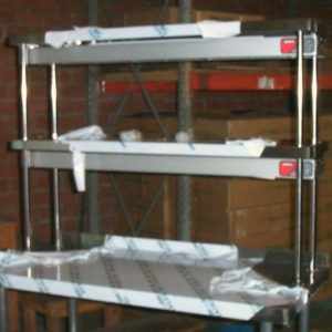 stainless steel commercial over shelf double 16x72