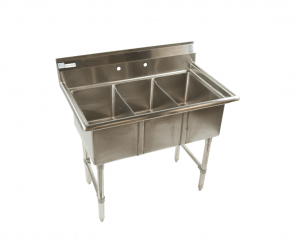 3 compartment stainless steel commercial sink 15x15