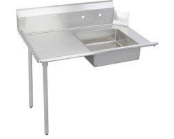 stainless steel commercial soiled dish table left 60