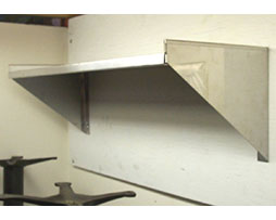 stainless steel commercial wall shelf 14x48