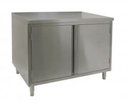 stainless steel commercial work table cabinet hinged 24x48