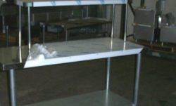 stainless steel commercial over shelf single tier 16x72