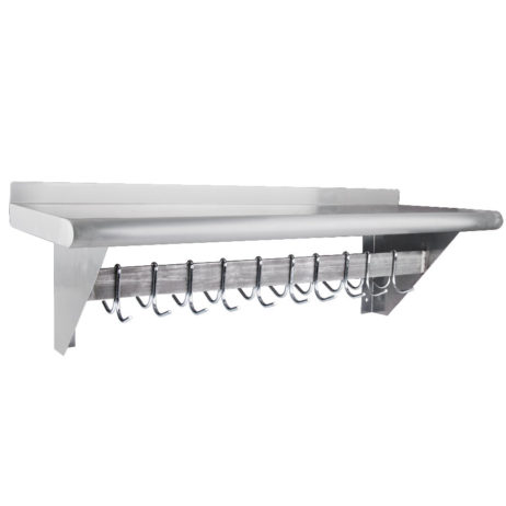 commercial wall shelf with pot rack 14x96